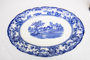 "Antique English ""Togo"" Blue and White Platter"