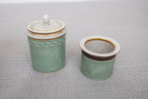 Royal Copenhagen Denmark Crackle Lidded Jar and Vessel