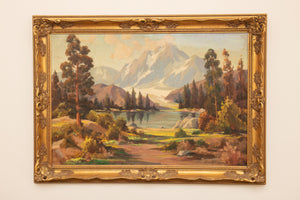 Oliver Glen Barrett Large Landscape Oil on Canvas
