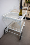 Woodard Patio Furniture Oak Leaf Bar Cart