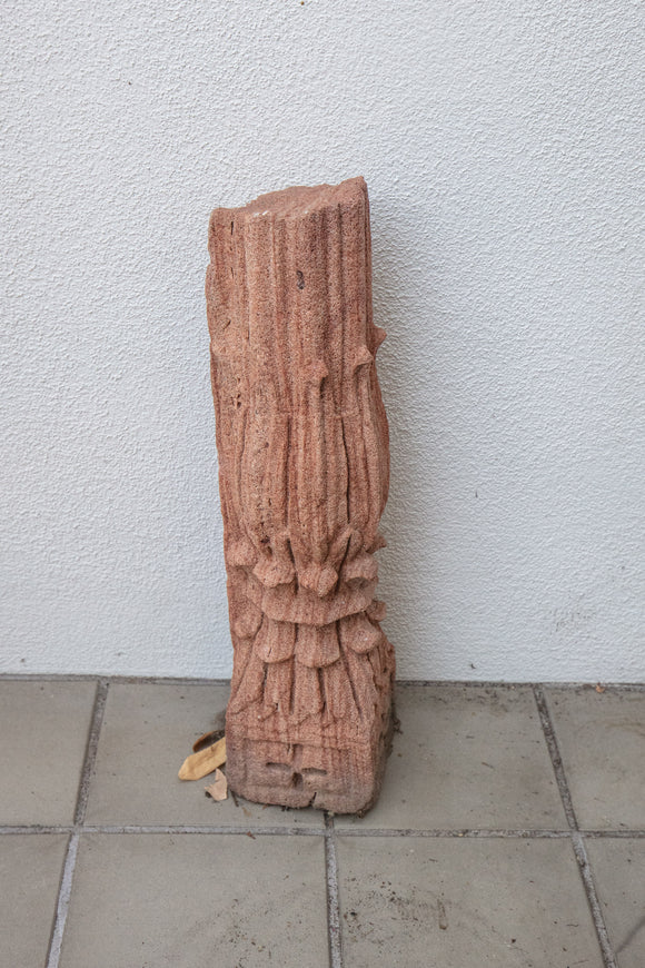 Decorative Sandstone Column Fragment