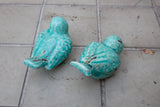 Turquoise Glazed Bird Pair