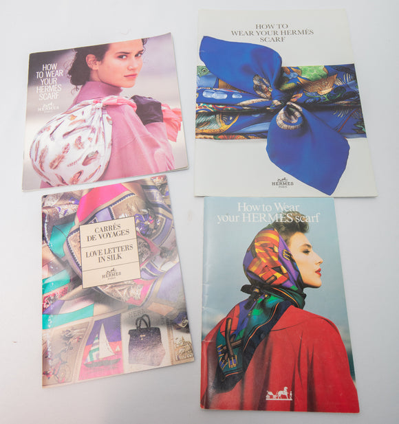 Hermes Collection of 4 Scarf Books