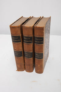 """Philip the Second King of Spain"" by William Prescott 1871 Three Volumes Leather Back"