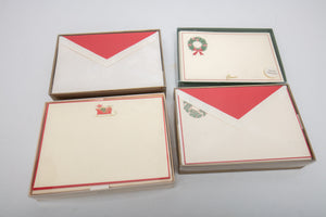 Lot of Christmas Stationary Including Crane's