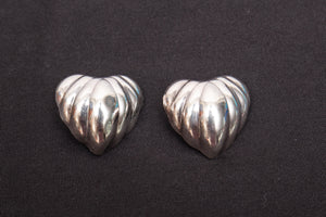 JAB Sterling Silver Mexico Clip On Earrings
