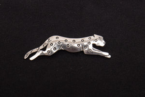 WDL Signed Sterling Silver Cheetah Brooch Pin
