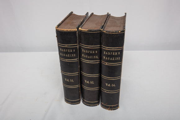 """Harper's Magazine"" Three Volumes Leather Bound"