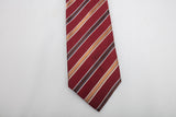Brioni Italy Silk Tie Red with Striped