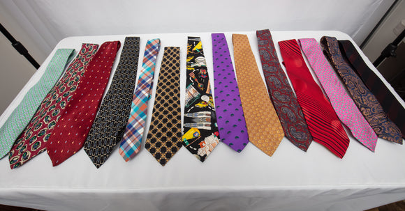 American Mostly Silk Ties Designer Lot of 14