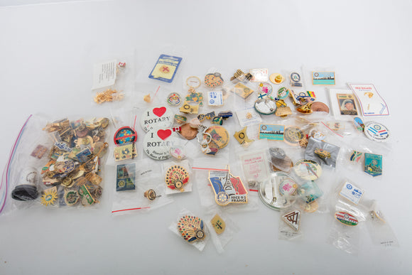 Collection of Pin Backs Mostly Rotary