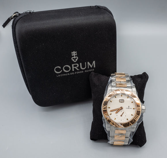 Corum Romvlvs Romulus Automatic 18K/SS 42mm Men's Watch w/Papers/Extra Links