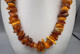 Vintage Graduated Natural Baltic Amber Freeform Necklace Strand