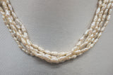 Vintage 5 Strand Seed Pearl Necklace with 14K Yellow Gold Clasp