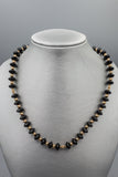 Art Deco Vintage Natural Onyx Disc Necklace w/ 10K Gold Spacer