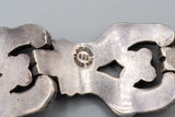 J. Flores Taxco Mexico Sterling Silver Panel Bracelet