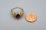 10K Yellow Gold STS Multi Gemstone Ring Chuck Clemency
