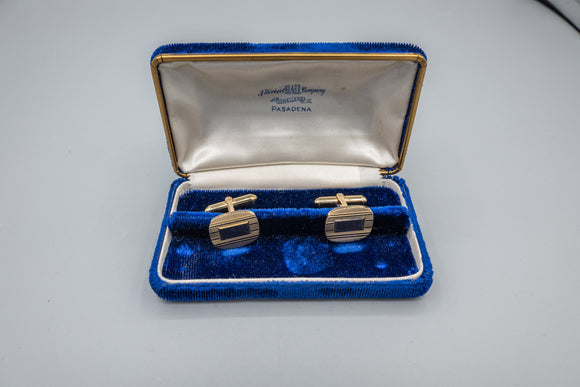Vintage Larter and Sons 10K Yellow Gold Cufflinks with Box