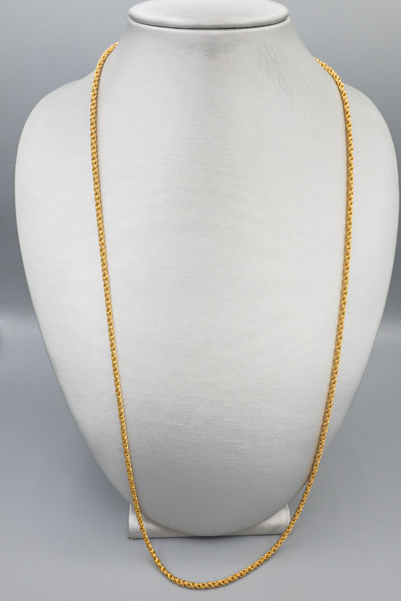 Vintage KJL Kenneth Jay Lane Gold Tone Necklace Twisted Rope Chain