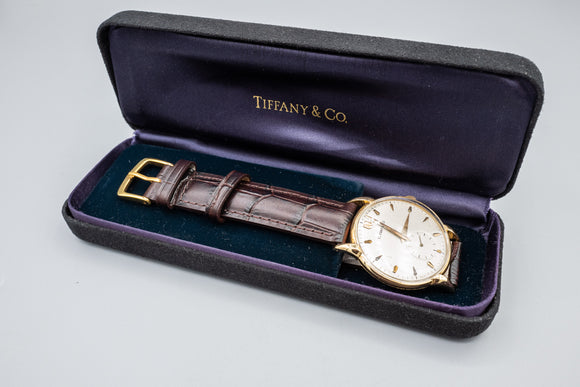 Vintage Tiffany & Co. 14K Gold 17 Jewels Men's 33mm Mechanical Watch