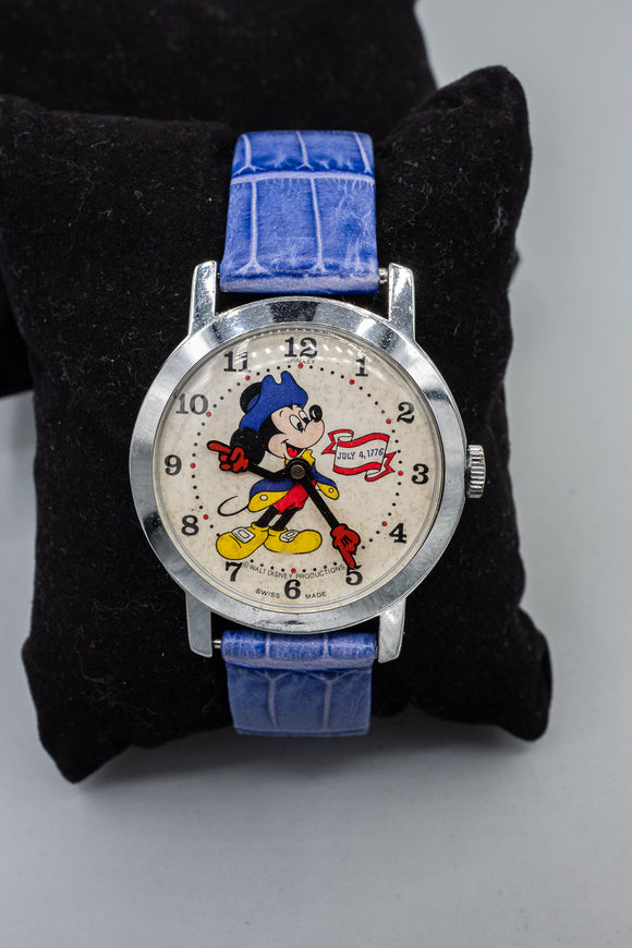 Collectors Mickey Mouse Watch by Bradley with Leather Strap Mens' Watch