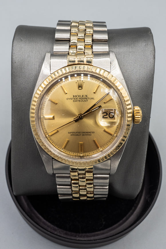 Vintage Rolex 1974 Two-Tone 14K Gold / Stainless Datejust Ref. 1601 Watch