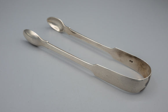 Antique English Sterling Silver Sugar Tongs