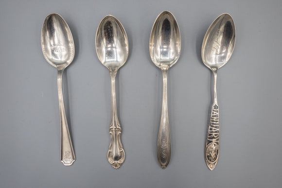 Sterling Silver Teaspoons Lot of 4