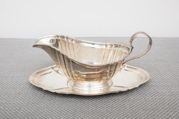 "Gorham ""Chippendale"" Sterling Silver Gravy Boat and Underplate"