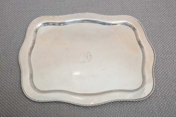 Sterling Silver Beaded Tray