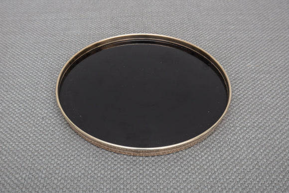 "Gorham Sterling Silver and Laminate Tray 1316 - 7 1/2"" Diameter"