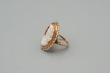 Antique Victorian 10K Gold Cameo Ring Size 3.75
