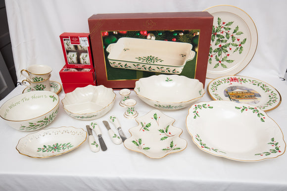 "Lenox ""Holiday"" Partial Serving Piece Service - 31 Piece Set"