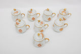 Limoges Pot de Creme Set Tray and 8 Pots