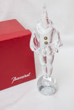 "Baccarat France Crystal Clown Mascarade Pierrot 260 Signed Jean Boggie in Box 10"" H"