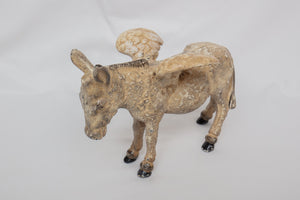 Cast Iron Donkey with Wings Coin Bank