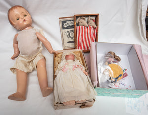 Collection of 4 Vintage Dolls