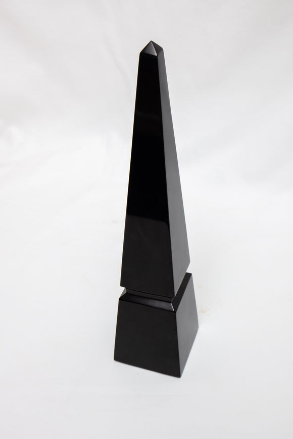 Baccarat Crystal France Black Obelisk READ