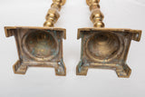 "Brass Candlestick Pair 17 1/4"" High"
