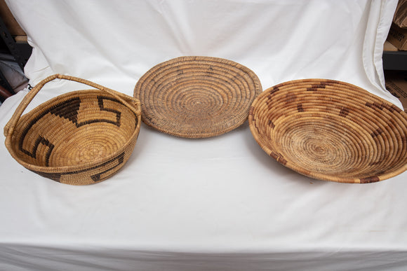 Native American Basket Lot of 3