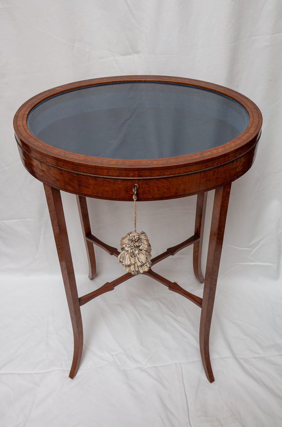 Antique English Vitrine Table
