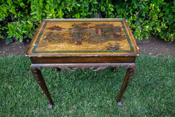 Antique English Chinoiserie Side Table