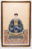 Chinese Vintage Ancestor Portrait of Man on Silk