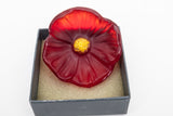 Daum France Fleur Cactus Red in Box