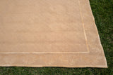 "Contemporary Beige Wool Rug with Laurels 11' 7.5"" Long x 8' 10"" Wide"