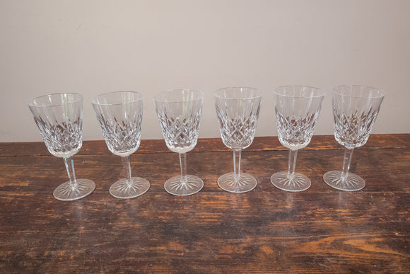 Waterford Lismore Water Goblets Set of 6