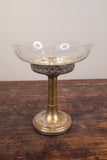 Glass Bowl on Silver Plate Stand