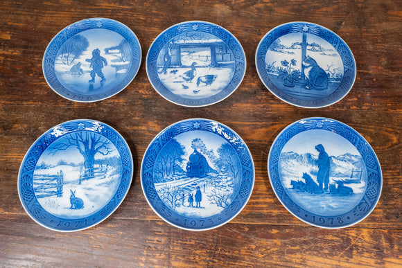 Lot of 6 Royal Copenhagen Christmas Plates