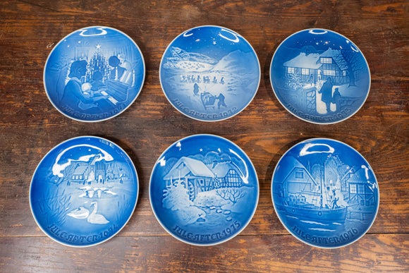 B & G Bing & Grondahl Christmas Plates 1971-1976 Set of 6