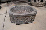 Square Carved Stone Chinese Planter Pot